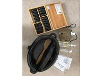Hot stone massage heater, oil warmer and grapeseed oil £75