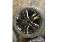 "honda civic enkei 4x100 16"" alloy wheels black with tyres ek4 vti ej9 eg"