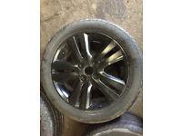 """honda civic enkei 4x100 16"""" alloy wheels black with tyres ek4 vti ej9 eg"""
