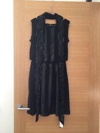 Coast dress size 10 with scarf