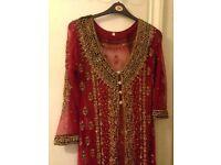 Red Asain dress