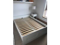 White Ikea Double Bed - used