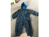 Boys rain suit all in one size 3-4 years