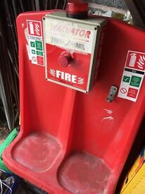 Site spillage kit and portable fire alarm point with klaxon £25 each
