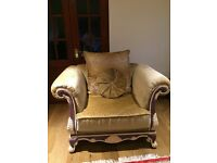 Matching three seater sofa and one arm chair