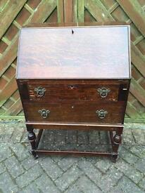 Vintage Oak Writing Bureau