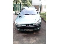 PEUGEOT 206LX CHEAP CAR TO RUN AND INSURE VERY LOW MILEAGE WITH FULL MOT AND £570 MAINTENANCE BILLS