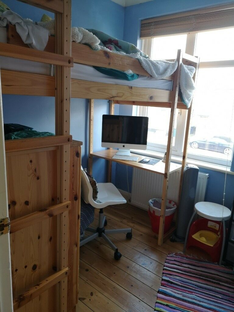 High sleeper single bunk bed wood | in Barnet, London ...
