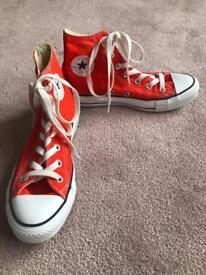 Converse All star high tops bright orange