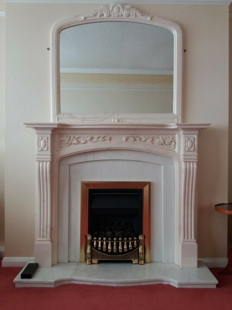 White Marble Fireplace Surround With Matching Mirror In Perth Perth And Kinross Gumtree