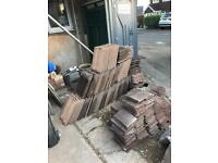 Roofing tile free to collect