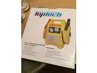 Top Tech 3-in-1 12V Booster Pack (Jump Starter) with Light and Air Compressor