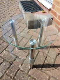 Circular round glass side table
