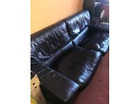 Black leather sofa •• FREE ••
