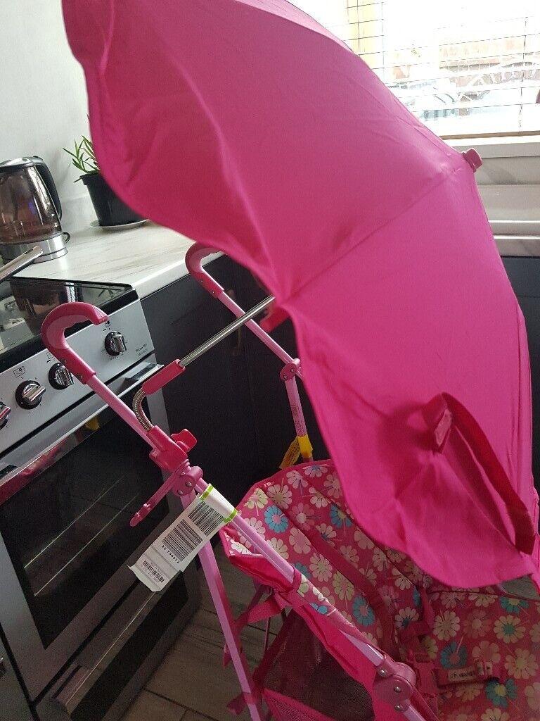 Mothercare pink pram & parasol | in Londonderry, County Londonderry |  Gumtree