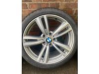 Bmw 19 inch 442 alloys with Bridgestone rft tyres f30 f31 f31 f32 f33