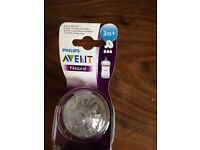 Avent Natural 3 month teats