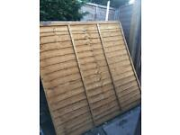 Fence panels 6x6 two of