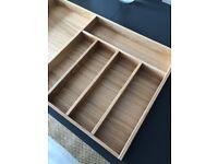 High quality Oak kitchen drawer cutlery insert 1000mm