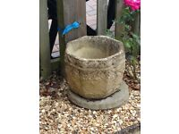 Large stone decorative planter