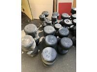 1560kg Rubber Coated Bulk Dumbell Sets Free Weights 2.5kg -65kg Great Opportunity