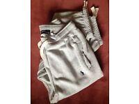 New - Men's Ralph Lauren light grey tracksuit = Size Large