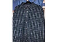 XL George Aqua Checked Shirt