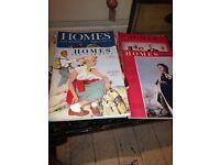 VINTAGE PLAYBOY MAGAZINE VINTAGE HOMES & GARDENS MAGAZINES
