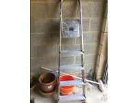 Excellent condition aluminium folding ladder, lightweight and easy to handle