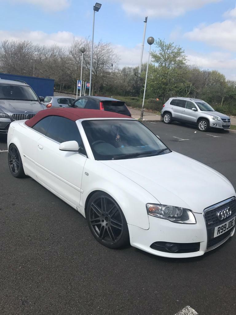 audi a4 convertible red white in syston leicestershire gumtree. Black Bedroom Furniture Sets. Home Design Ideas