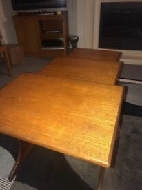 Teak wooden 3 set table amzing condition