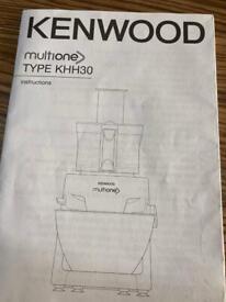 Food mixer and processor