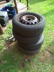 175/65R14 tyres on steel rims