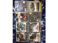 PS3 console and 8 games