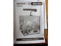 AquaNano 30/22lts Aquarium with pump, filter, heater & accessories