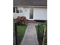 2 bedroom bungalow to let in Gresford on bus route Wrexham to Chester. No DSS. No Pets