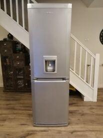 Beko frost free fridge freezer with water dispenser in silver