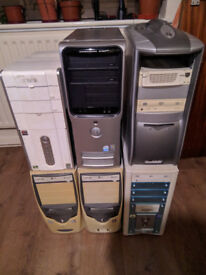 6 older PC Computers