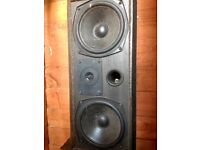 Hi Fi speakers and cable Mordaunt Short, Sym, Gale,
