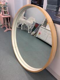 Large round retro style ikea mirror