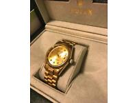 Men's gold automatic watch