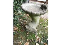 Stone Birdbath- Fish & Shell design