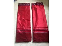 Red/ burgundy curtains