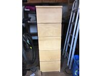 2x IKEA tall wooden drawers- similar to malm range. £20 each or pair £30