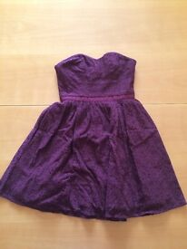 Excellent condition size 6 Jack Wills Burgundy lace dress