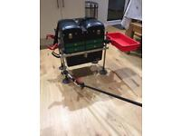 Fishing box with attachments great condition