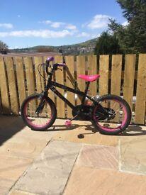 "Girls tinkerbelle bike 16"" from halfords"