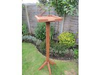 Wooden Bird Feeding Table for Garden (Flat Top)