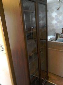 2 glass door display cabinet