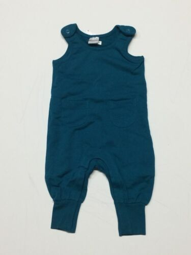 Hanna Andersson baby boy overall  0 3 12 18 24 m RRP $40 petrol green